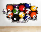 Wall Stickers Snooker Table Pool Balls Bar Colourful Boys Decal 3D Art $56.76 USD on eBay