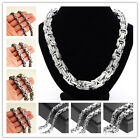 """7-40"""" 316L Stainless Steel Heavy Byzantine Mens Chain Necklace 4/5/7/8/10/12mm"""