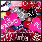 Coloured Aluminium Pet IDENTITY Tags For kittens/Cats, Sm/Med & Large Dog Breeds