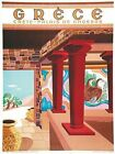 Vintage Greek Tourism Palace of Knossos Crete Poster A3 Print
