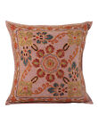 Floral Cushion Cover Indian Embroidered Cotton Pillow Case Cover Throw 16""
