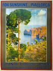 Vintage Mallorca Spain For Sunshine Tourism  Poster A3 Print