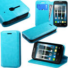 For Alcatel One Touch Evolve 2 II 4037T Folio Book Wallet Stand Card Slots Cover