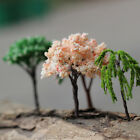 Set of 2 Miniature Tree Plants Fairy Garden Yard Dollhouse DIY Ornament Decor