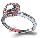 2.80ct White Round Cut CZ 925 Silver Two Tone Wedding Ring +Gift 22006