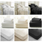100% Egyptian Cotton Bedding Set Duvet Cover Extra Deep Fitted Sheet All Sizes