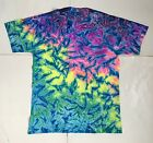 *New* Handmade, Rainbow Blue Crinkle Tie Dye, Crew Or V-Neck, Sm-4XL, 30 Yrs Exp