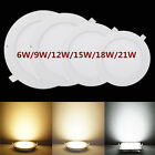 10 Pcs Round 6W SMD LED Recessed Ceiling Panel Down Light Bulb Lamp W/ Driver QT