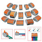 Lots Reusable Spring Lever Terminal Block Electric Cable Connector Wire 2/3/5Pin