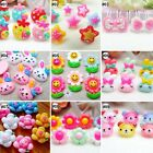10pcs Mixed Colors Cartoon Resin Flatback Hair Accessories DIY Craft 9 Designs-E