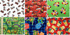 CHARACTER FAT QUARTERS : 100% LICENSED cotton fabrics in assorted designs