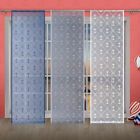 Single Net Window Panel Nautical Anchor Patter Blind Curtain Fly Screen Slot top