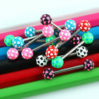 Hot Heart Ball Tongue Rings Stainless Steel Bar Barbells Body Piercing Jewelry