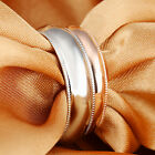 Women Men Stainless Steel Couple Comfort Wedding Bands Ring Bling Smooth 5-10#