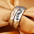 Crystals Stainless Steel Couple Fashion Bands Ring Bling Male Female 5-10#