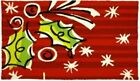 Hip Holly on Shades of Red Happy Holiday Accent Rug 33 X 21 Inches
