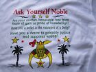 Masonic Freemason Noble Shriner's short sleeve T-shirt White Shriner T- shirt