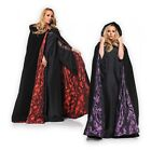 Cloak Hooded Velvet & Satin Cape Renaissance Clothing Medieval Costume
