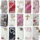 Hot Bling Diamond Crystal Leather Fit Wallet Stand Card Case Cover For Vodafone