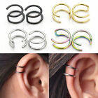 Punk Rock Clip-on Earrings Non-piercing Cartilage Cuff Eardrop Ear Clip Womens