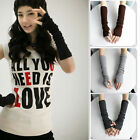 New Fashion Ladies Winter Soft Knitted Arm Warmer Long Fingerless Gloves