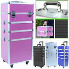 4 in 1 / Extra Large Makeup Case Hairdressing Vanity Beauty Cosmetic Box Trolley