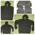 Black Zip Up Hoody Jacket Heavy weight Lined inside hoodIE Hoodie jacket SMALL