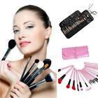 24Pcs Wood Makeup Brush Kit Cosmetic Foundation Make Up Set with Pouch Bag LJ