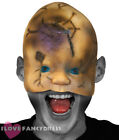 CREEPY DOLL HALF FACE HORROR MASK LATEX HALLOWEEN FANCY DRESS COSTUME ACCESSORY