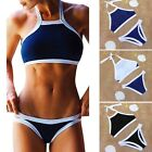 Hot New Sexy Women Bikini Block Party Push Up Padded High Neck Swimsuit S-XL FE