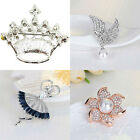 Woman Fashion Rhinestone Crystal Brooches Diamante Pin Brooch Party Jewelry