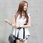 US Women Summer Sweet Slim Fit Top Lady Chiffon Sleeveless T-Shirt Blouse Blousa