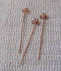 Handcrafted Clover Copper Head Pins - 20 gauge [Lead/Nickle Free}