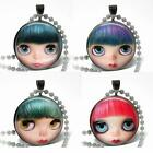 """Big Eyed Doll Face Glass Top 1"""" (25mm) Pendant or Charm Artisan Jewelry Pick One"""