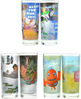 Disney Set of 2 Glass Tumblers Finding Nemo Jungle Book Toy Story New & Official