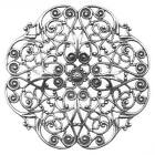 Antiqued Silver Plated Fancy Peony Filigree Stamping 62mm