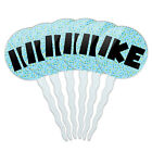 Set of 6 Cupcake Picks Toppers Decoration Names Male Ia-Iv