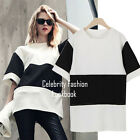 tp201 Ladies Trendy Summer Striped Black and White Fashion Top Blouse 12 14 16