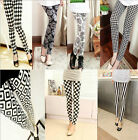 Hot Sexy Ladies Women Skinny Printed Leggings Full Length Stretchy Trousers