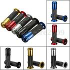 Universal Motorcycle ATV CNC Aluminum Rubber Gel Hand Grips For 7/8'' Handle Bar