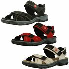 Ladies Rieker 68851 Red, Black Or Beige Leather Casual Strap Sandals