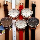 5 Color Luxury Rose Gold Case Bracelet Bangle Lady Women Leather Analog Watch