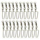 Good 20pcs Fishing Ball Bearing Swivel Coastlock Snap Connector Saltwater 0#-10#