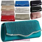Women's handbag clutch bag satin baguette STRASS shoulder strap 5889-MOD