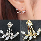 Fashion 1Pair Crystal Rhinestone Stud Earrings Women Pearl Ear Jewelry Girls