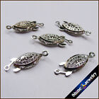 Wholesale 5 / 10 / 20 pcs white Gold Plated Fish Jewelry Clasps 9x18mm Finding
