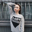 Women Long Sleeve Lady Garden Letter Print Sweatshirt Tops Blouse
