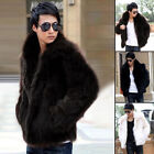 Winter Fashion New Men's Casual Coats Faux Fur Parkas Jackets Casual Outerwear