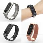 Luxury Mesh Wristband Strap Bracelet Stainless Steel for Xiaomi Mi Band 2 Miband