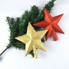 Christmas SILVER/Golden/Red Glitter Star Christmas Tree Topper Decoration